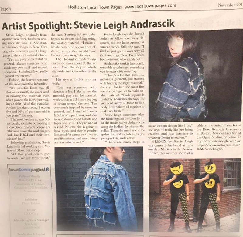 Stevie Leigh Andrascik Holliston, MA newspaper